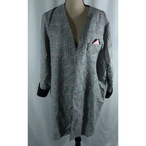 Vintage Lane Bryant Open Front Plaid Jacket 80s